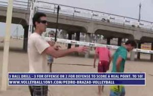 3-Ball-Transition-Beach-Volleyball-Drill-–-3-For-Offense,-2-For-Defense-to-Score-with-Pedro-Brazao