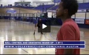 5 by 5 Ball Control and Armswing Warm Up Drill with Chris Austin