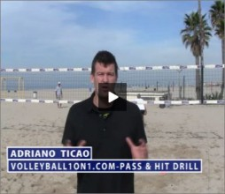 Adriano Ticao Beach Volleyball Beginner Drill Pass Hit
