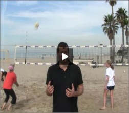 Adriano Ticao Beach Volleyball Beginner Drill Pass Set Spike