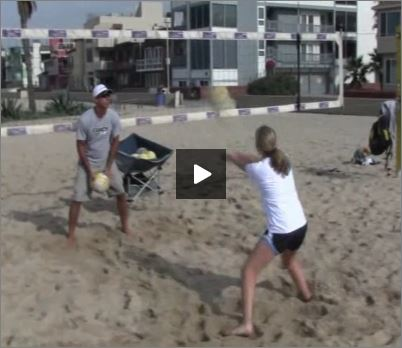 Adriano Ticao Beach Volleyball Beginner Drill Passing