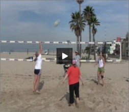 Adriano Ticao Beach Volleyball Beginner Drill Triangle Pass Set
