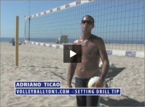 Adriano Ticao Beach Volleyball Setting Drill