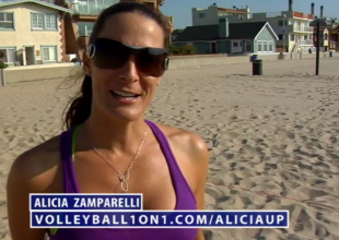 Alicia Zamparelli Beach Volleyball Up