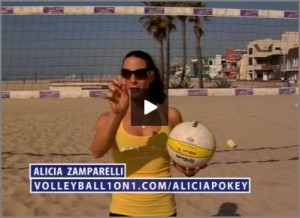 Alicia Zamparelli the Pokey in Beach Volleyball