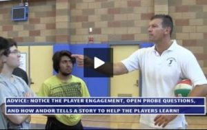 Andor Teach Serving Principals Plus Pressure Serve Drill - Day 1 - Uni High