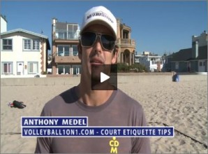 Anthony Medel Beach Volleyball Court Etiquette