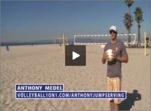 Anthony Medel Beach Volleyball Jump Serving