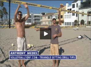 Anthony Medel Beach Volleyball Triangle Setting Drill