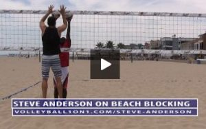 Beach Volleyball Blocking with Steve Anderson - Video 1 Demonstration