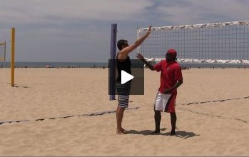 Beach Volleyball Blocking with Steve Anderson - Video 3 Arm Technique
