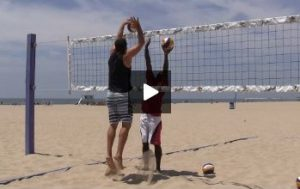 Beach Volleyball Blocking with Steve Anderson - Video 5 Play On the Ball