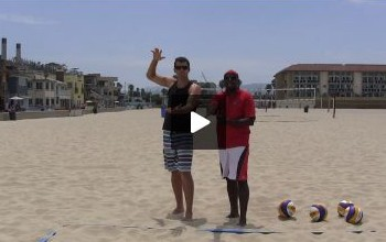 Beach Volleyball Serving with Steve Anderson - Video 2 Arm Swing
