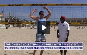 Beach Volleyball Spiking with Steve Anderson - Video 2 Arm Swing Technique