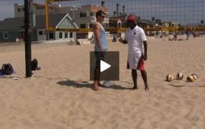 Beach Volleyball Spiking with Steve Anderson - Video 3 Hitting Footwork