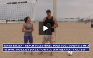 Beach Volleyball Yoga Cool Down Exercises - Video 2 of 3