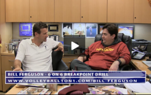 Bill Ferguson - Conversation From Office - 6 on 6 Break Point Drill