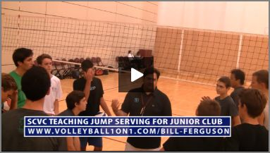 Bill Ferguson SCVC Teaching Junior Club Volleyball Jump Serving and Drill