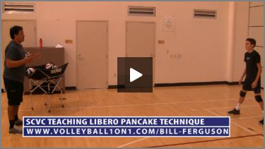 Bill Ferguson SCVC Teaching Volleyball Defense Drill, Pancake