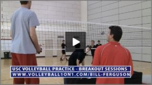 Bill Ferguson Team Breakout Sessions Middle Blocker Volleyball Defense Drill