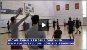 Bill Ferguson USC running STD Volleyball Drill