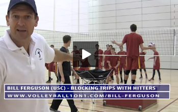 Bill Ferguson - Volleyball Blocking Trips with Hit Off Box from 2014 Practice