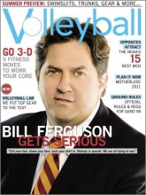 Bill Ferguson on Cover of Volleyball Mag