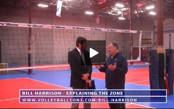 Bill Harrison Explaining the Zone When Playing Volleyball