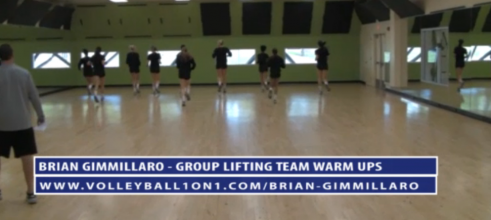 Brian Gimmillaro Lifting Team Warm Up Volleyball Drills
