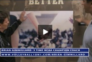 Brian Gimmillaro and LBS Volleyball Locker Room