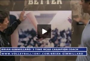 Brian Gimmillaro and LBS Volleyball Locker Room
