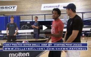 Chris Austin - Volleyball Setting Drill Like Serve Receive From 1,3 and 4 with Jump Set