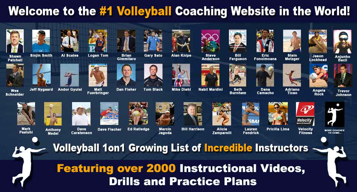 Volleyball1on1 Coaching Staff: Featuring Over 2000 Volleyball Coaching Videos, Drills, Practice Plans, Online Courses and More.