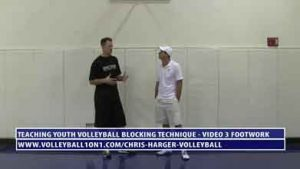 Coaching-Youth-Volleyball-Blocking-Technique---Video-3---Footwork