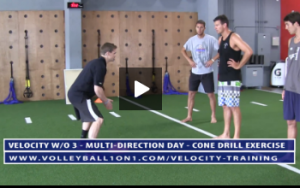 Cone Drill Exercise for Movement Portion - Velocity Workout 3 - Multi-Directional