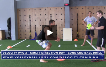 Cone and Ball Drill Exercise for Movement Portion - Velocity Workout 3 - Multi-Directional