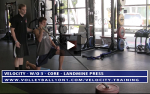 Core Exercises - Landmine Press -  Strength and Power Portion of Velocity Workout 3