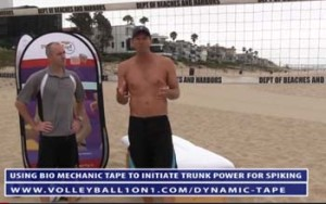 Creating Trunk Rotation Volleyball Spiking Power Using Bio-Mechanic Tape