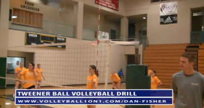 Dan Fisher Tweener Ball Transition Volleyball Drill