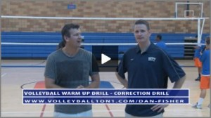 Dan Fisher Volleyball Warm Up - Correction Volleyball Drill