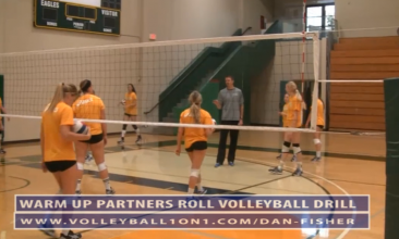 Dan Fisher Warm Up - Partner Roll Volleyball Drill
