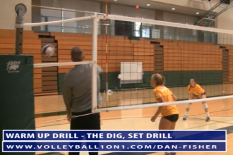 Dan Fisher Warm Up Volleyball Drill - The Dig Set Drill