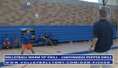 Dan Fisher Warm Up Volleyball Drills - Continuous Pepper Volleyball Drill