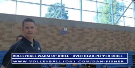 Dan Fisher Warm Up Volleyball Drills - Over Head Pepper Volleyball Drill