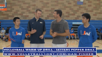 Dan Fisher Warm Up Volleyball Drills - Setters Pepper Drill