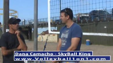 Dana Camacho Beach Volleyball Sky Ball I