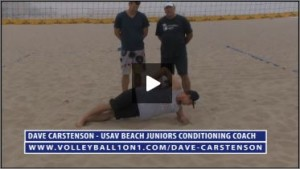 Dave Carstenson Beach Volleyball Core Ab Exercises Ground V