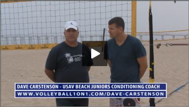Dave Carstenson Beach Volleyball Warm Up I