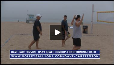 Dave Carstenson Beach Volleyball Warm Up IV