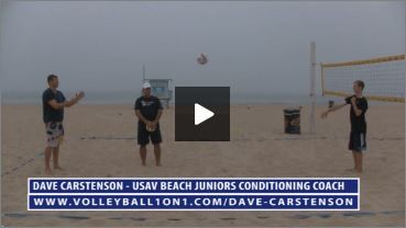 Dave Carstenson Beach Volleyball Warm Up V